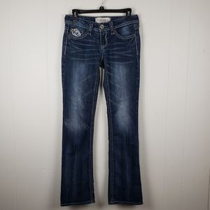 HYDRAULIC Gramercy Embroidered Jeans Size 2